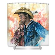 The King And His Queen Shower Curtain by Kim Whitton