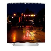 The Kingpins Rock The Night Away Shower Curtain by David Patterson