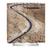 The King's Highway At Wadi Mujib Jordan Shower Curtain by Robert Preston