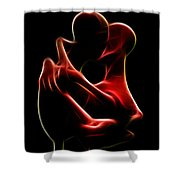 the Kiss Shower Curtain by Taylan Apukovska