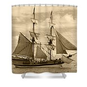 The Lady Washington Ship Shower Curtain by Kym Backland