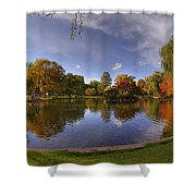 The Lagoon - Boston Public Garden Shower Curtain by Joann Vitali