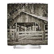 The Last Barn Shower Curtain by Joan Carroll