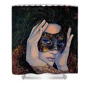 The Last Secret Shower Curtain by Dorina  Costras