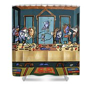 The Last Supper Shower Curtain by Anthony Falbo