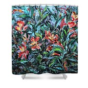 The Late Bloomers Shower Curtain by Xueling Zou