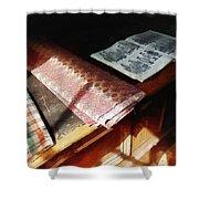 The Latest Fashion Shower Curtain by Susan Savad