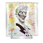 The Laughing Man Shower Curtain by Wave