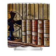 The Lawyers Desk Shower Curtain by Paul Ward