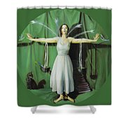 The Leaver Shower Curtain by Shelley Irish