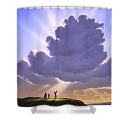 The Legend Of Bagger Vance Shower Curtain by Jerry LoFaro