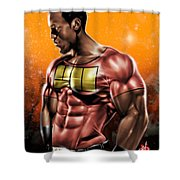 The Legend Of Will Power Shower Curtain by Pete Tapang