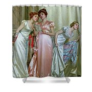 The Letter Shower Curtain by Vittorio Reggianini