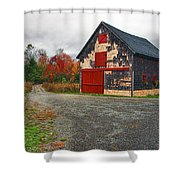 The Little Barn Shower Curtain by Marcia Colelli