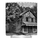 The Local Haunted House Shower Curtain by Heather Applegate
