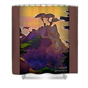 The Lone Cypress Shower Curtain by John Malone