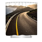 The Long and Winding Road Shower Curtain by John Daly