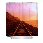THE LONG WALK TO NO WHERE  Shower Curtain by Jeff  Swan