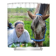 The Love Of Pets Shower Curtain by Tiffany Erdman