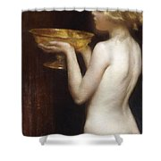 The Loving Cup Shower Curtain by Janet Agnes Cumbrae-Stewart