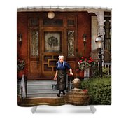 The Maid Shower Curtain by Mike Savad