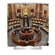 The Main Reading Room Of The Library Of Congress Shower Curtain by Allen Beatty