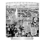 The March for Civil Rights Shower Curtain by Benjamin Yeager