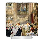 The Marriage At St Georges Chapel Shower Curtain by English School