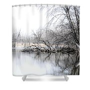 The Marsh Shower Curtain by Julie Palencia
