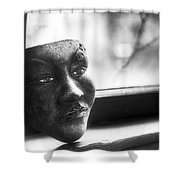 The Mask Shower Curtain by Scott Norris