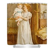 The Master Of The House Shower Curtain by George Goodwin Kilburne