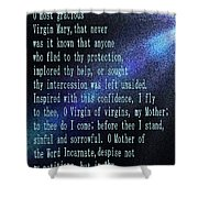 The Memorare Shower Curtain by Barbara Griffin