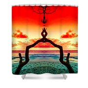 The Merger Shower Curtain by M and L Creations