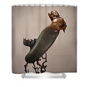 The Mermaid Shower Curtain by Lisbeth Sabol