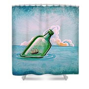The Messenger Shower Curtain by Cindy Thornton