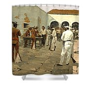 The Mier Expedition Shower Curtain by Fredrick Remington