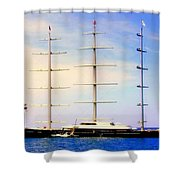 The Mighty Maltese Falcon Shower Curtain by KAREN WILES