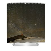 the Milky Way Sagittarius and Antares over the Sierra Nevada National Park Shower Curtain by Guido Montanes Castillo