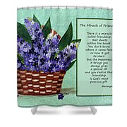 The Miracle Of Friendship Shower Curtain by Barbara Griffin
