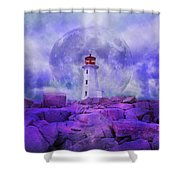 The Moon Knows Where to Rise Shower Curtain by Betsy C  Knapp