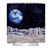 The Moon Rocks Shower Curtain by Jack Skinner