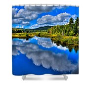 The Moose River From The Green Bridge Shower Curtain by David Patterson