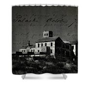 The Most Haunted House In Spain. Casa Encantada. Welcome To The Hell Shower Curtain by Jenny Rainbow