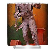 The Mummy Shower Curtain by John Malone