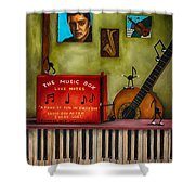 The Music Box Edit 3 Shower Curtain by Leah Saulnier The Painting Maniac