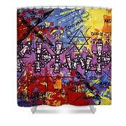 The Name Of God Shower Curtain by Anthony Falbo