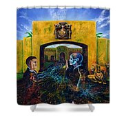 The Oath Shower Curtain by Kd Neeley