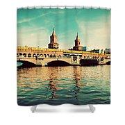 The Oberbaum Bridge In Berlin Germany Shower Curtain by Michal Bednarek