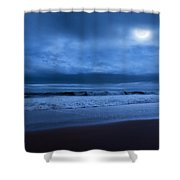 The Ocean Moon Shower Curtain by Bill  Wakeley