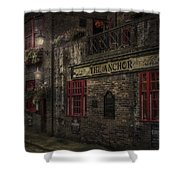 The Old Anchor Pub Shower Curtain by Erik Brede